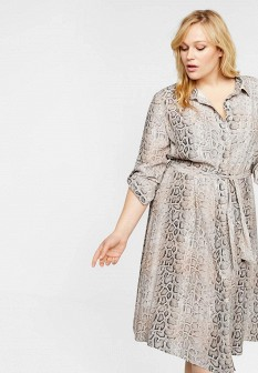 Бежевое платье Violeta by Mango