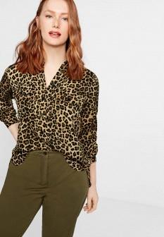 Коричневая блузка Violeta by Mango