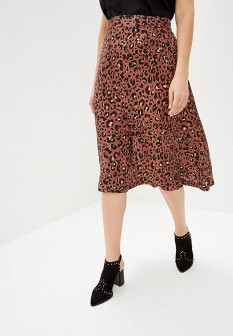 Коричневая юбка Violeta by Mango