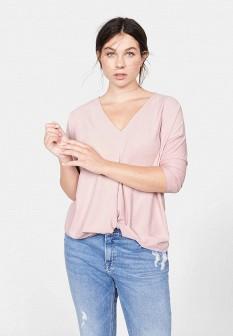 Женский розовый испанский осенний лонгслив