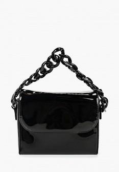 Женская черная кожаная лаковая сумка