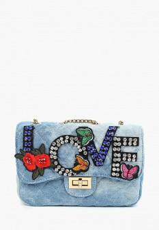 Женская голубая сумка Vitacci