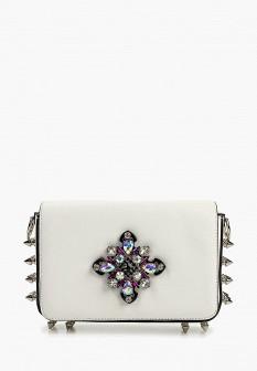 Женская белая кожаная сумка
