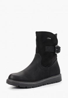 Женские черные осенние кожаные полиуретановые сапоги