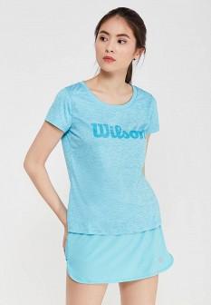 Женская голубая спортивная футболка