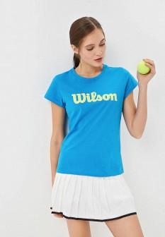 Женская синяя футболка Wilson