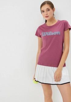 Женская фиолетовая футболка Wilson