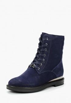 Женские синие осенние ботинки из нубука