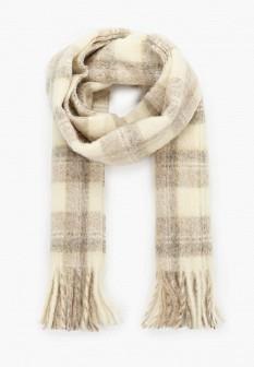 Женский бежевый итальянский осенний шарф