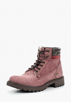 Женские бордовые осенние ботинки из нубука