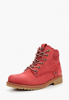 Женские красные осенние ботинки из нубука