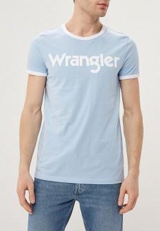 Мужская голубая футболка Wrangler