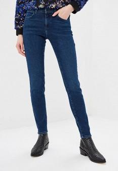 Женские синие джинсы скинни