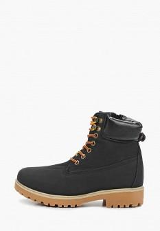Женские черные осенние кожаные ботинки из нубука