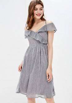 Осеннее серебряное платье Yumi