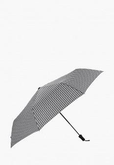 Женский черный осенний складной зонт