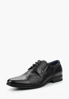 Мужские черные кожаные туфли