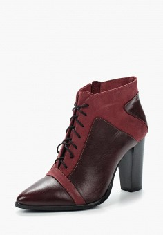 Ботильоны, Accord, цвет: бордовый. Артикул: AC009AWVIA46. Обувь