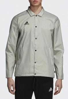 Куртка, adidas, цвет  серый. Артикул  AD002EMCDGP9. Одежда   Верхняя одежда b33070ba16a