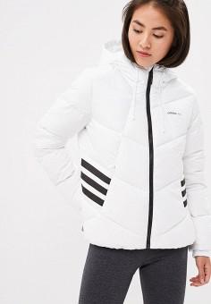 Пуховик, adidas, цвет: белый. Артикул: AD002EWCDIA6. Одежда / Верхняя одежда / Зимние куртки