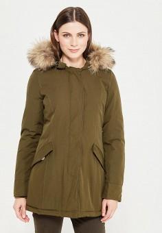Куртка утепленная, Adrixx, цвет: хаки. Артикул: AD021EWXQC27. Одежда / Верхняя одежда