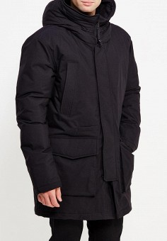 Пуховик, adidas Originals, цвет: черный. Артикул: AD093EMUNN89. Одежда / Верхняя одежда / Парки