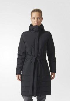 Пуховик, adidas, цвет: черный. Артикул: AD094EWUOG73. Одежда / Верхняя одежда