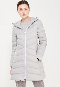 Пуховик, adidas, цвет: серый. Артикул: AD094EWUOG75. Одежда / Верхняя одежда / Зимние куртки