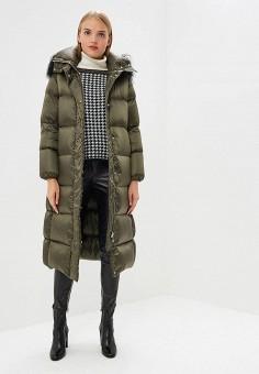 Пуховик, Add, цвет: хаки. Артикул: AD504EWCGOK5. Premium / Одежда / Верхняя одежда / Зимние куртки