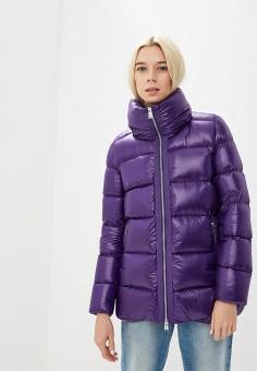 Пуховик, Add, цвет: фиолетовый. Артикул: AD504EWCGOL1. Одежда / Верхняя одежда