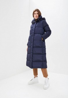 Пуховик, Add, цвет: синий. Артикул: AD504EWCGOL4. Premium / Одежда / Верхняя одежда / Зимние куртки