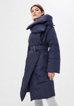 Пуховик, Add, цвет: синий. Артикул: AD504EWCGOM7. Premium / Одежда / Верхняя одежда / Зимние куртки