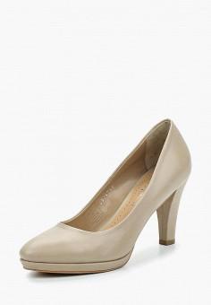 Туфли, Alesya, цвет: бежевый. Артикул: AL048AWAMLM5. Обувь / Туфли / Закрытые туфли