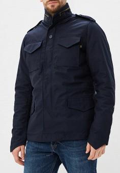 Куртка утепленная, Alpha Industries, цвет: синий. Артикул: AL507EMCCEJ0. Одежда / Верхняя одежда / Демисезонные куртки