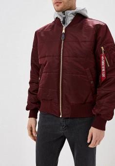 Куртка утепленная, Alpha Industries, цвет: бордовый. Артикул: AL507EMCCEJ5. Одежда / Верхняя одежда / Демисезонные куртки