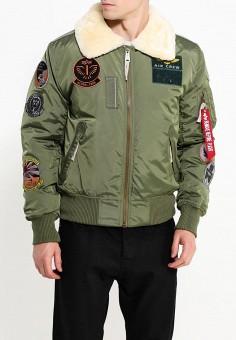 Куртка утепленная, Alpha Industries, цвет: хаки. Артикул: AL507EMUHL09. Одежда / Верхняя одежда / Демисезонные куртки