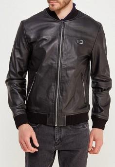 Куртка кожаная, Antony Morato, цвет: черный. Артикул: AN511EMZOV96. Одежда / Верхняя одежда / Кожаные куртки