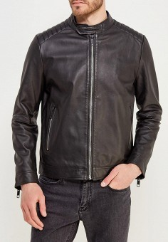 Куртка кожаная, Antony Morato, цвет: черный. Артикул: AN511EMZOV97. Одежда / Верхняя одежда / Кожаные куртки