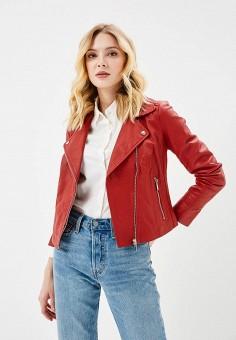 Куртка кожаная, Arma, цвет: красный. Артикул: AR020EWZSI31. Одежда / Верхняя одежда / Косухи
