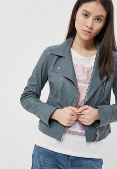 Куртка кожаная, Arma, цвет: серый. Артикул: AR020EWZSI32. Одежда / Верхняя одежда