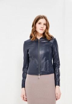 Куртка кожаная, Arma, цвет: синий. Артикул: AR020EWZSI35. Одежда / Верхняя одежда