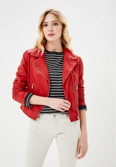 Куртка кожаная, Arma, цвет: красный. Артикул: AR020EWZSI39. Одежда / Верхняя одежда / Косухи