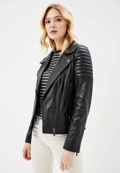 Куртка кожаная, Arma, цвет: черный. Артикул: AR020EWZSI41. Одежда / Верхняя одежда / Косухи
