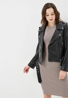 Куртка кожаная, Arma, цвет: черный. Артикул: AR020EWZSI43. Одежда / Верхняя одежда