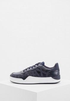Кеды, Armani Exchange, цвет: синий. Артикул: AR037AMBKWS5. Обувь / Кроссовки и кеды / Кеды