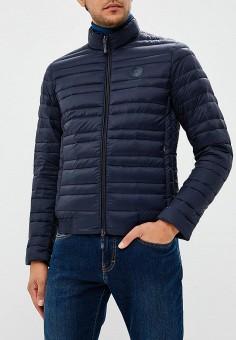 Пуховик, Armani Exchange, цвет: синий. Артикул: AR037EMBLDN8. Одежда / Верхняя одежда / Пуховики и зимние куртки