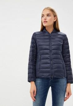 Пуховик, Armani Exchange, цвет: синий. Артикул: AR037EWBLEZ8. Одежда / Верхняя одежда / Зимние куртки