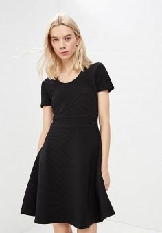 Платье, Armani Exchange, цвет: черный. Артикул: AR037EWBLFB2. Premium / Одежда / Платья и сарафаны