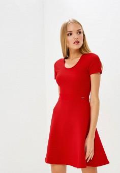 Платье, Armani Exchange, цвет: красный. Артикул: AR037EWBLFB3. Premium / Одежда / Платья и сарафаны