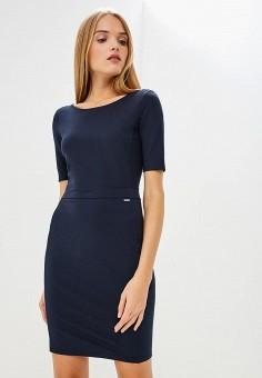 Платье, Armani Exchange, цвет: синий. Артикул: AR037EWBLFB4. Одежда / Платья и сарафаны